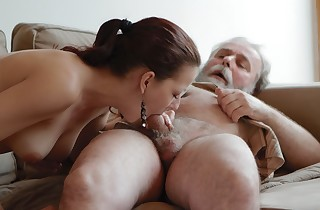Ilona and her man are sharing a supreme time when he invites his older friend over